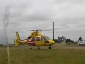 Man's arm caught in net winch