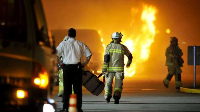 CAR ABLAZE: Gary Anders Kristensen, 44, is accused of setting fire to his own 4WD parked in the Grand Central Shopping Centre car park.