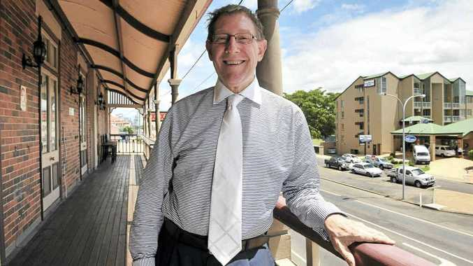 Opposition spokesman for education Bruce Flegg delivers his party policy to Bundaberg school leaders at the Old Bundy Tavern.