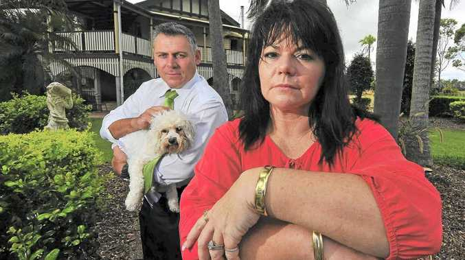 Sue-Ellen Lammi and Member for Burnett Rob Messenger with Molly are shocked over the increase in council fees.