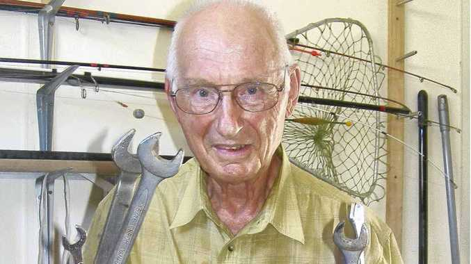 West Ballina's David Green with a collection of things he has found on the road.