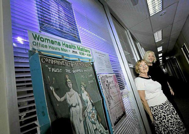 Celebrating 20 years of Women's Health Matters, Pamela Craven and Helga Jolley.