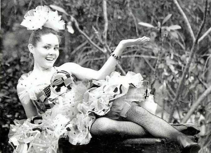 A 17-year-old Rachel Grosskopf posing for a musical at Emmaus College in 1993.