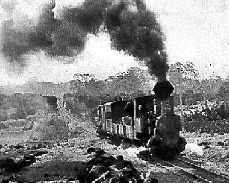 Buderim's tram in the 1920s.