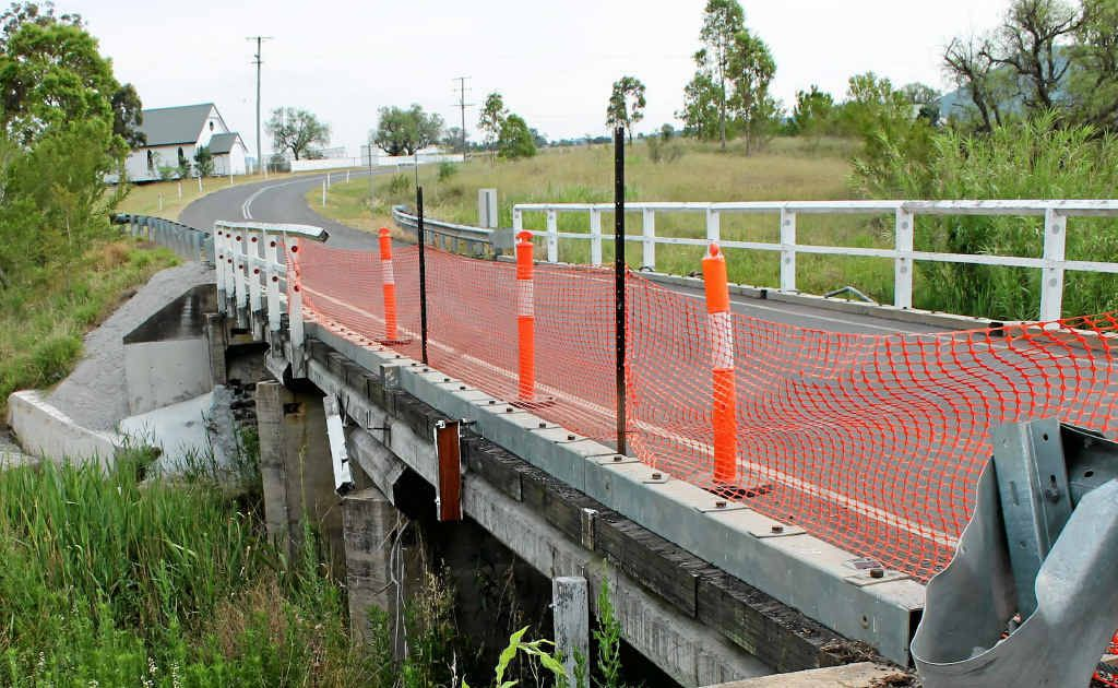 Palmer Bridge over Freestone Creek is still in need of repair after a vehicle incident in November 2011.