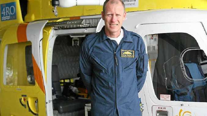 RACQ Capricorn Helicopter Rescue Service pilot David Patrick in the Rockhampton hangar.