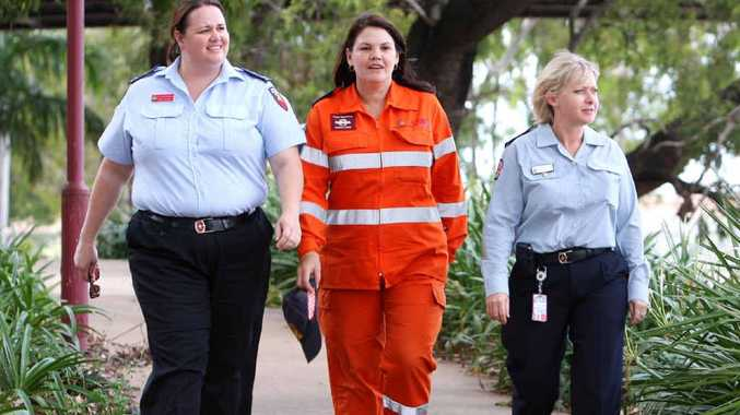 Emergency operator for QFRS Firecom Kerrie Buckton, SES volunteer Cheryl Ireland and QAS regional director of operations Michelle Baxter are an inspiration.