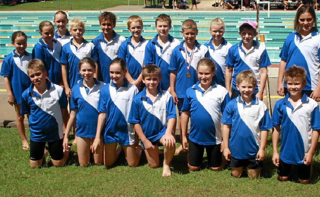 Southern Downs swimmers at the Darling Downs Primary School Swimming Championships at Gatton last week.