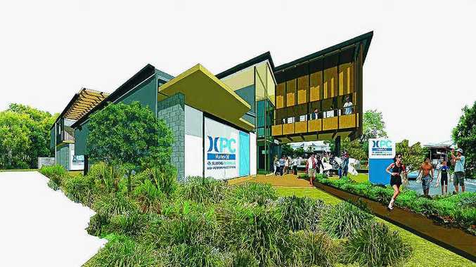Artist's impression of the new surf training centre at Casuarina.