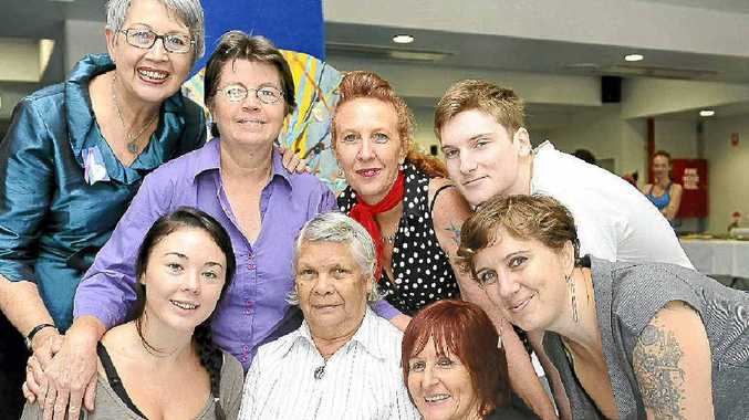 Pictured at the International Women's Day luncheon at the Goonellabah Sports and Aquatic Centre are (back, from left) Lismore Mayor Jenny Dowell, Terry Lawrence of Lismore, Cat Anderson of Nimbin, Talsen Kelly of Lismore and (front) Samantha Rhodes of Goonellabah, Aboriginal elder Kath Richardson of Lismore, Lizette Twisleton the luncheon organiser from Lismore City Council and Maire Barron of Nimbin.