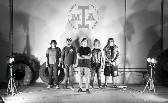 Brisbane band Midnight in Alaska had its instruments stolen in Rockhampton on Saturday before it even had the chance to perform.