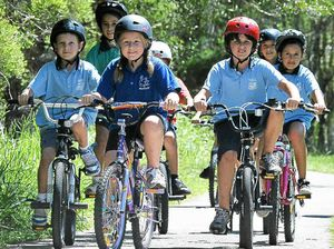 Pupils pile on pedal power