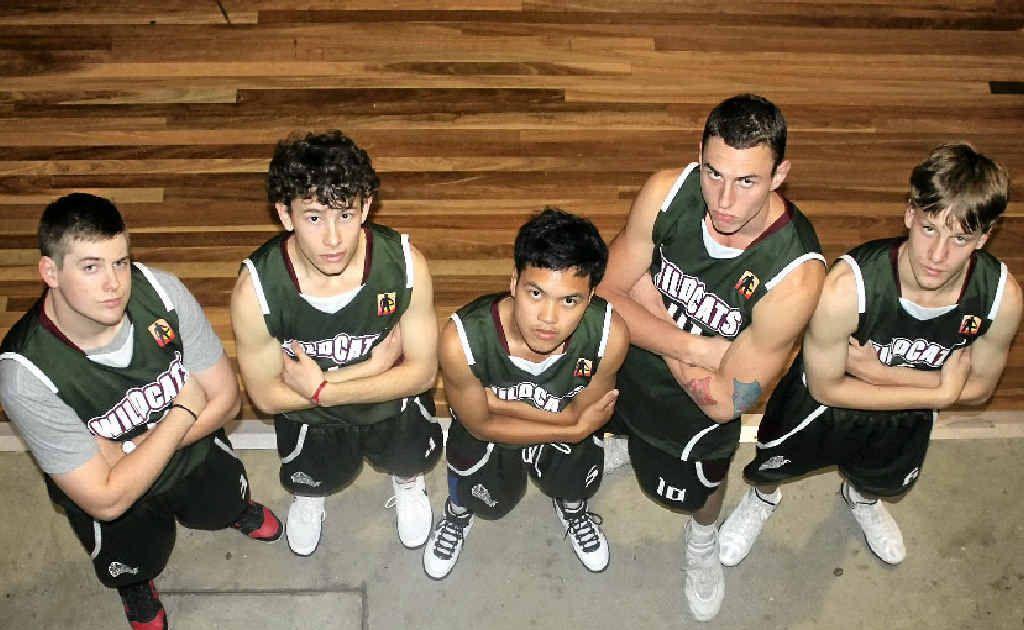 Young Warwick players (from left) Andrew Rendalls, DJ Cremasco, Jay Figuracion, Jessie Burton and Joshua Cremasco.