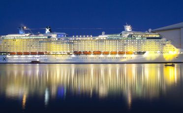 Celebrity Cruises' new ship, Celebrity Silhouette, was launched in Hamburg last year.