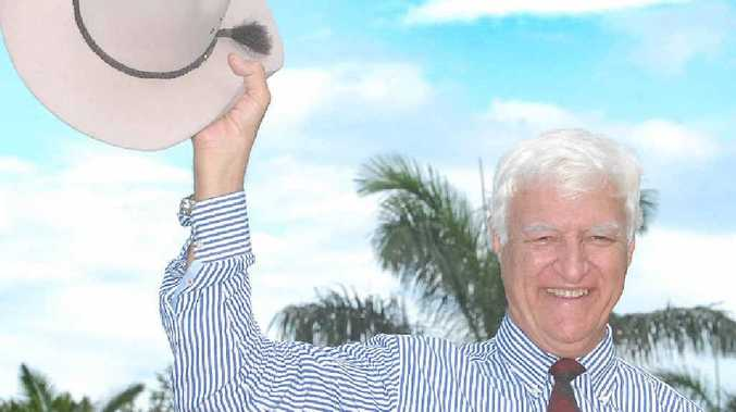 Bob Katter auctioned his famous Akubra hat off last night. The hat fetched $1000 and was bought by the owner of Wade's Tree Services Mackay.