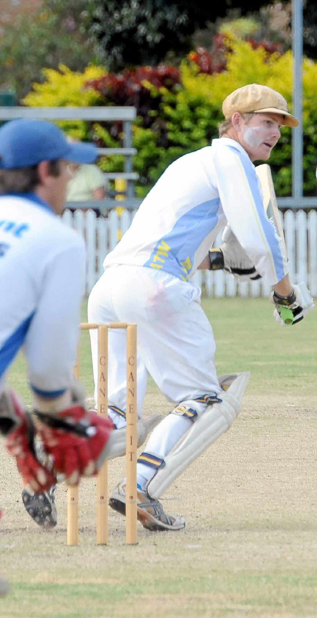 Across The Waves' Brendan Prossliner looks for a single in the division one cricket final against Brothers at Salter Oval.