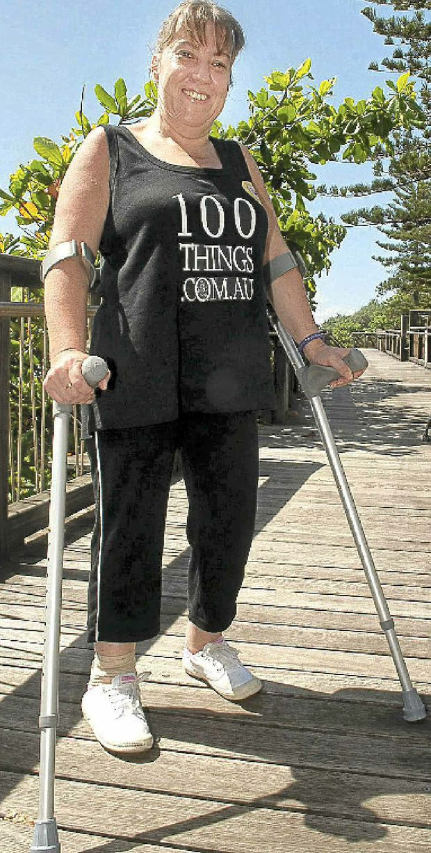 Being in a wheelchair is not stopping Tania Sherley, 42, working through her bucket list.