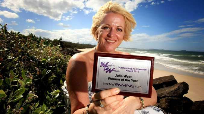 Julie West was named the Tweed's woman of the year 2012 at Tweed Shire Women's Service's awards.