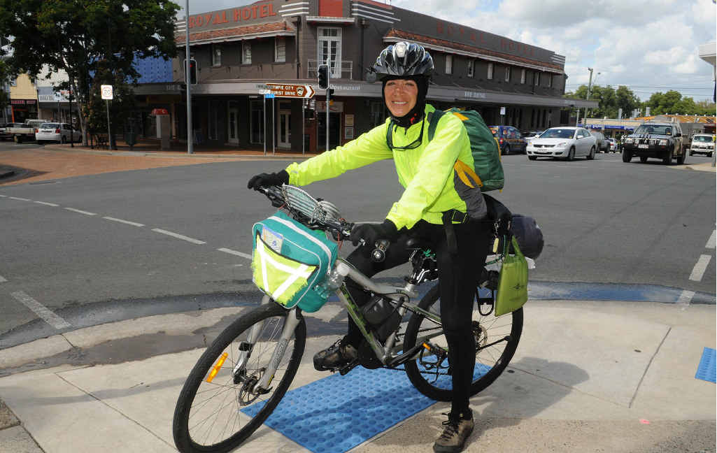 Bertha Corte is riding around Australian to try and change perceptions about her home country Mexico.