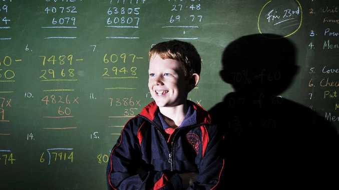 Finn Ball, 10, of Alstonville Public School, is one of a class of students who set the academic bar high in a World Maths Day competition and scored the highest in Australia in their age group.