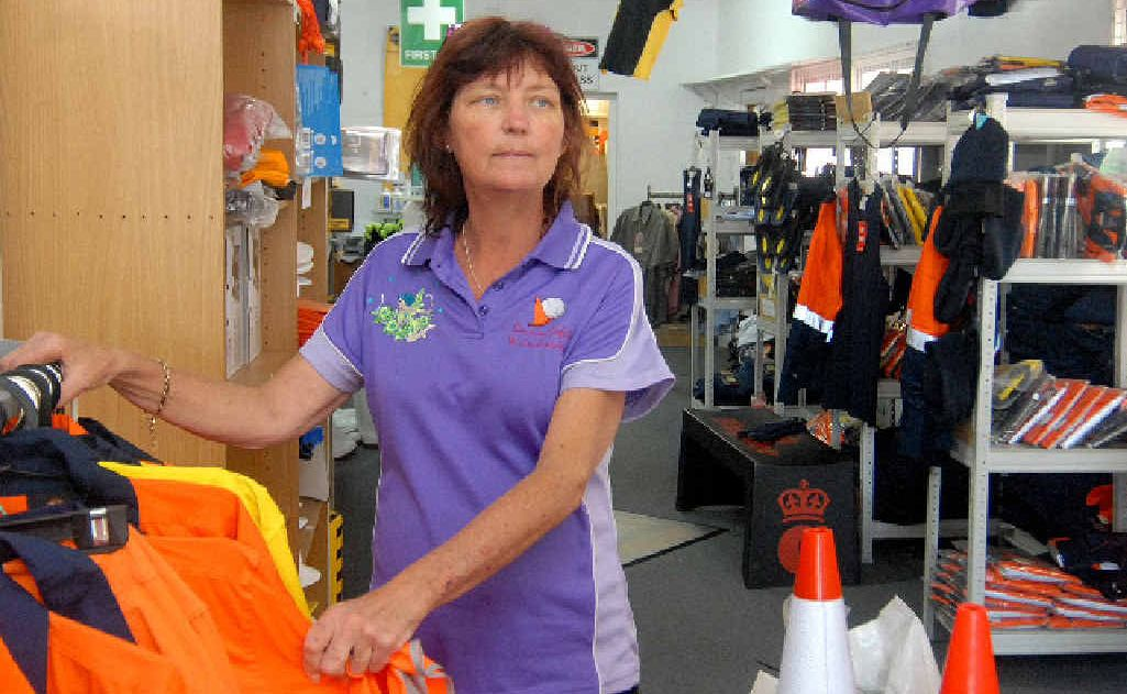 Sarina Safety and Embroidery owner Lesley Vary fears she will have to close her business on Broad St because her customers can no longer access it due to prolonged roadworks.