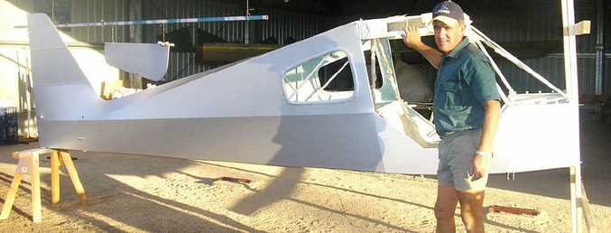 Clifton man Ray Baines at the start of his six-year project to build a plane from scratch.