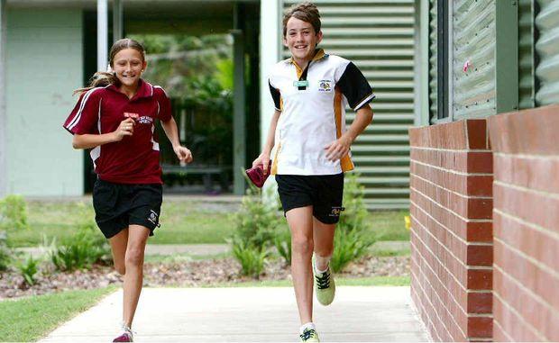 Holly Beveridge and Jamie Sanders, of Mackay West State School, keep busy with lots of sporting activities.