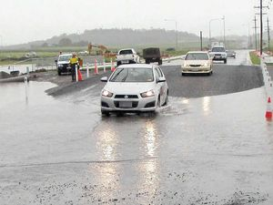 Row erupts over flooded road