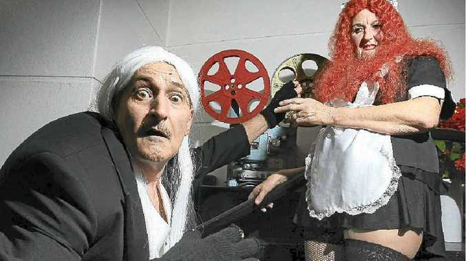 Malcolm Reid and Carole Evans get into the Rocky Horror theme.