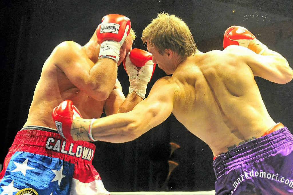 Harbour City Havoc at the Gladstone Entertainment Centre. Heavyweight title, Mark Demori vs Rob Calloway.