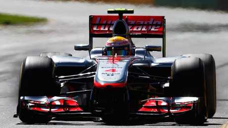 Lewis Hamilton in action with his former team McLaren