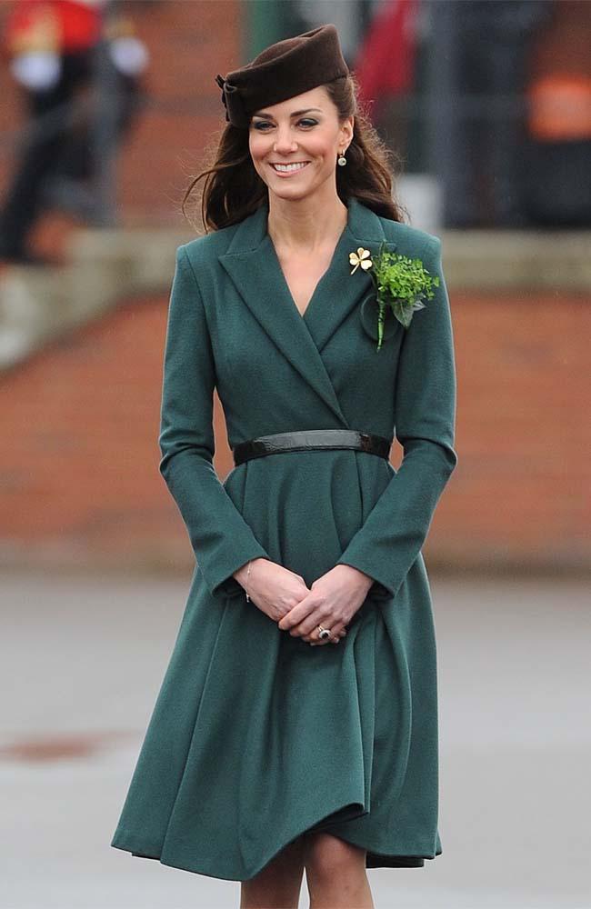 Duchess Catherine at the Irish Guards parade.