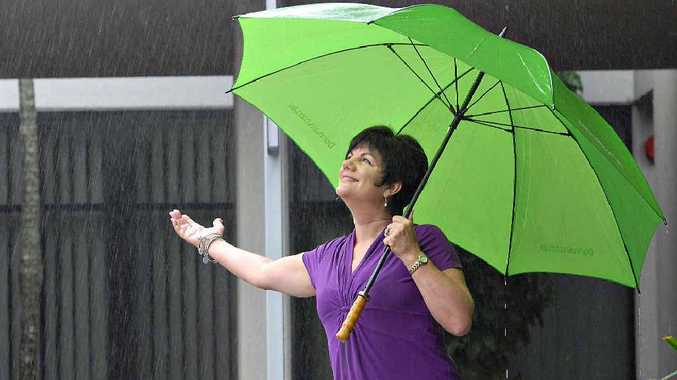 Pauline Townsend won't let a drop of rain stop her.
