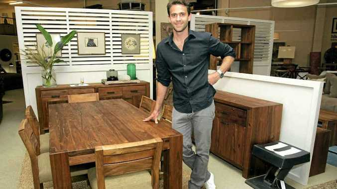 Furniture designer David Hardwick has created three collections of furniture for Rockhampton retailers HB and Co.