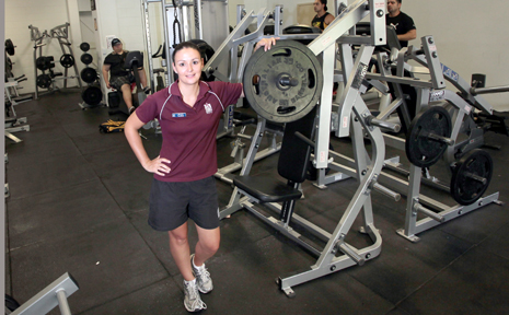 Cat Scully at Inala PCYC Gym where they have received funding for new equiptment.