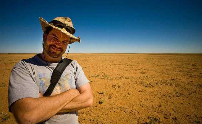 A photo of Rowan Bestmann taken in the Diamantina Shire in 2009.