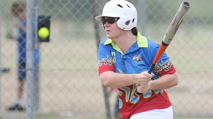 Easy Riders' Sam Maloney in batting action during the A Reserve game against Frenchville Green at Kele Park on Saturday.