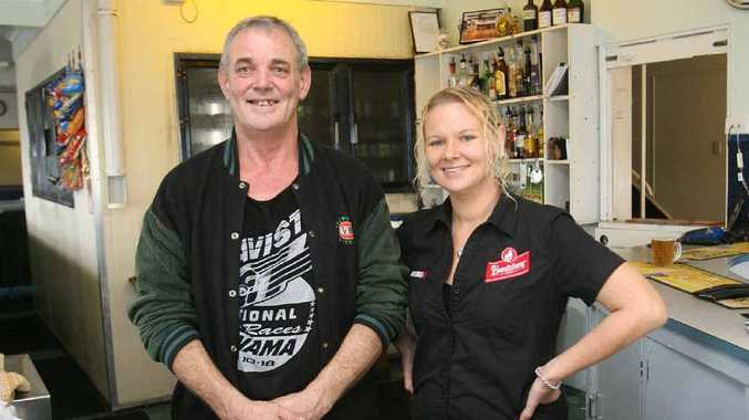 Tony Higgins and Amanda Robinson from the Fitzroy Hotel in Depot Hill aren't concerned about the predicted flooding in Rockhampton.