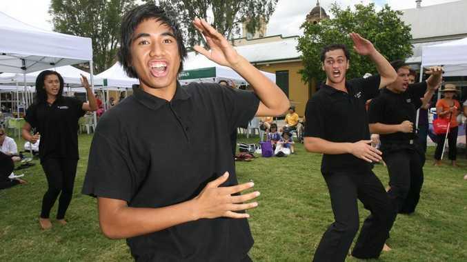 Te Maumahara Kapa Haka perform at the Harmony Day event held at Darcy Doyle Place on Wednesday.