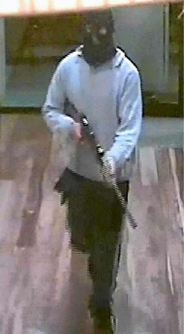 Alleged CCTV image of Clinton John Bau at the PA Hotel.