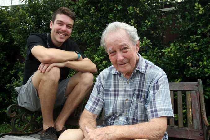 Ian Wilkins enjoys quality time with his grandson Josh White.