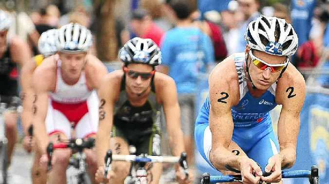 It is no surprise to see Brad Kahlefeldt out in front in a Mooloolaba Triathlon.