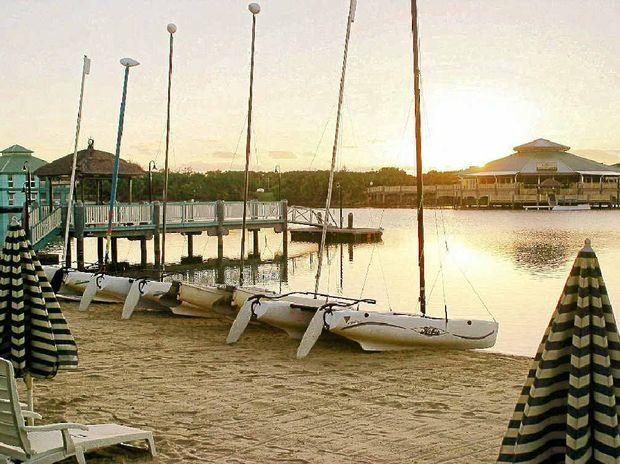 PLENTY TO DO: Sailboats on the lagoon.