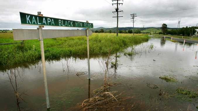 The Capricorn Hwy west of Stanwell was closed due to flooding on Thursday night.