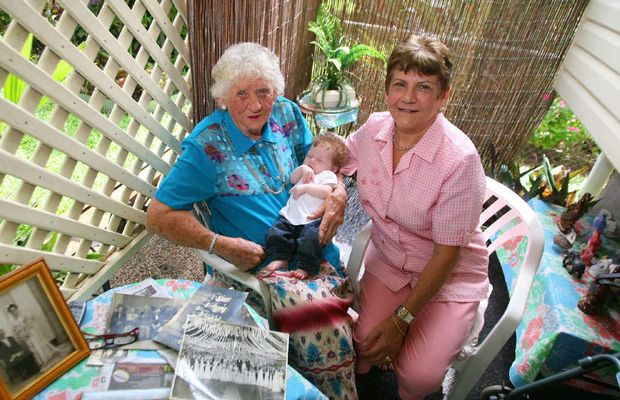 Barb Wenck holds nine-week-old Emiley Storer and her niece Rita Murray – they tell the story behind a recent Blast from the Past photo.