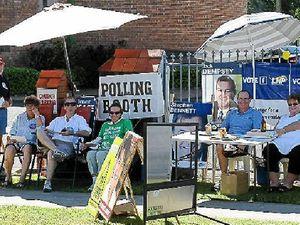 Poll volunteers defy the heat