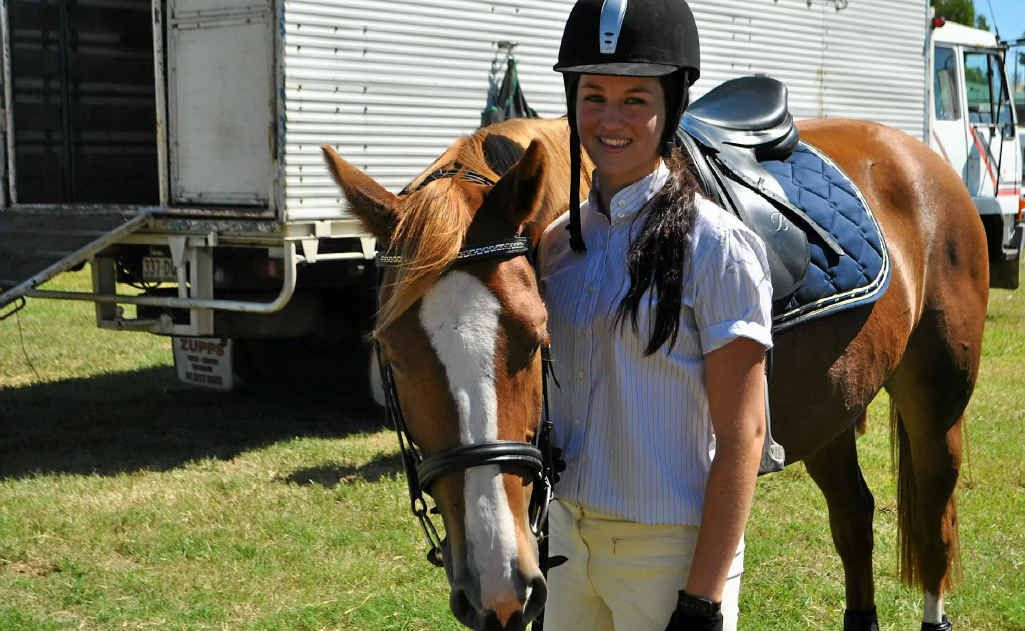 Emily Slade and Warrego Firefly at the Warwick Show at the weekend.