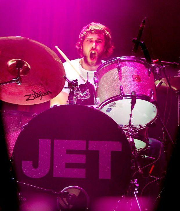 Jet drummer Chris Cester.