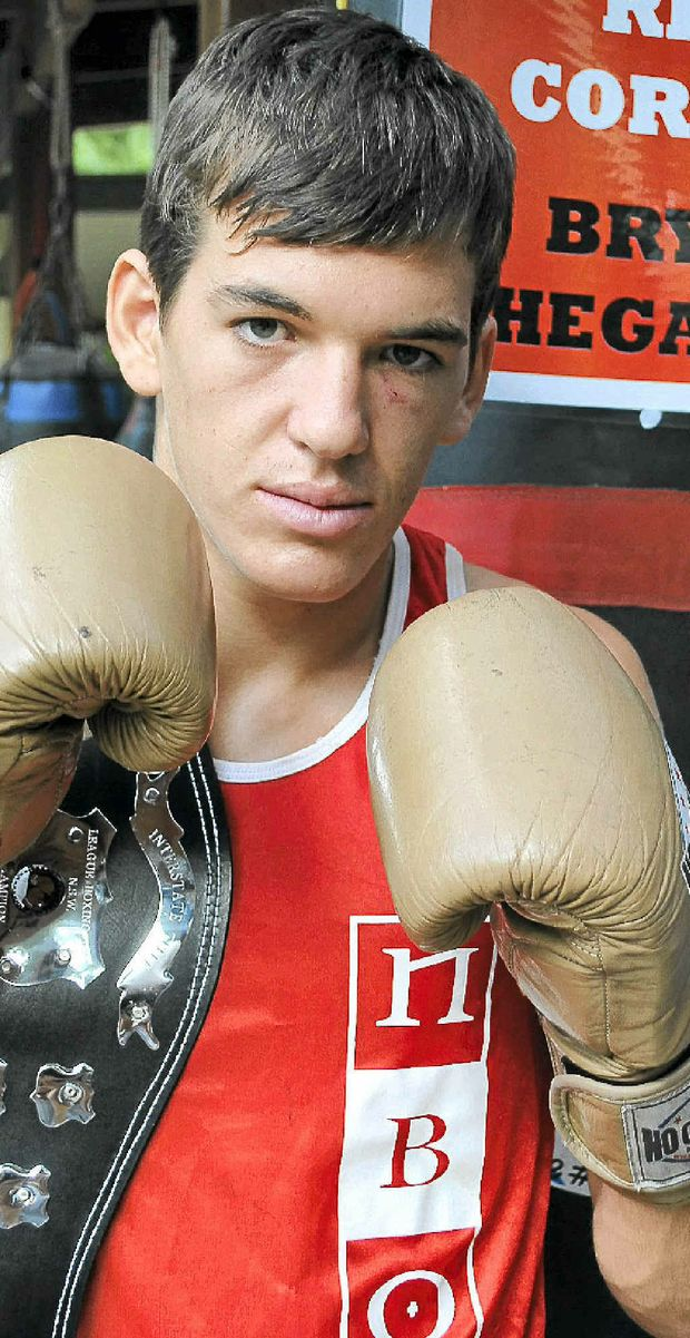 Bryce Hegarty fought above his weight for victory against his champion NSW opponent.