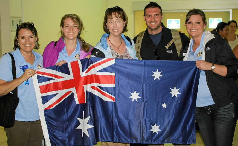 WELCOME: The Rotary team from Wisconsin in the US.